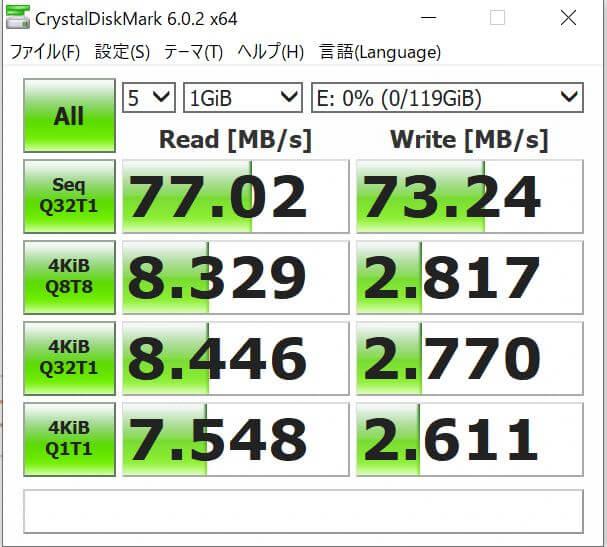 sandisk-microsdカードの速度
