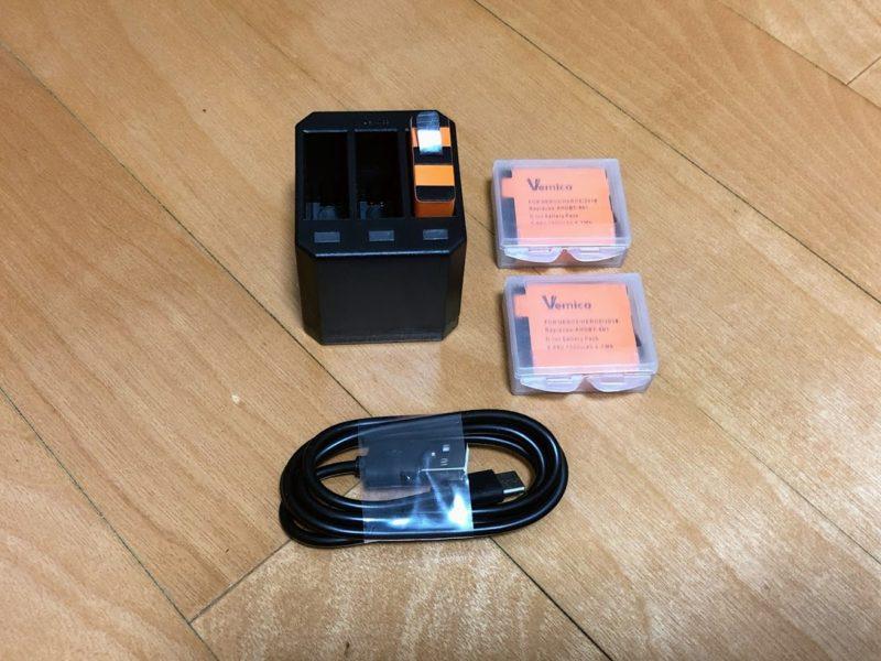 Gopro用交換用バッテリーと充電チャージャー
