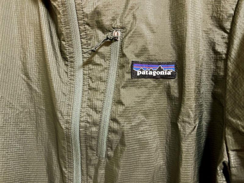 パタゴニア フーディニジャケットの胸ジッパー