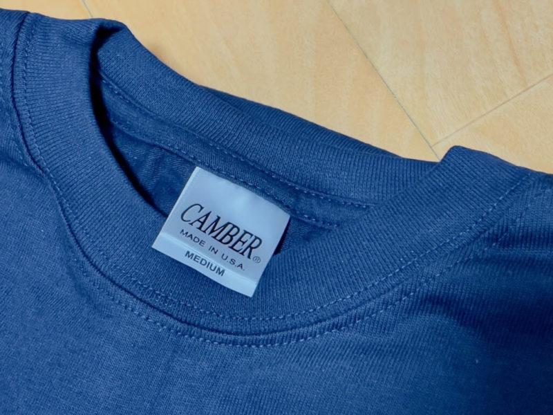 キャンバーTシャツの首回り